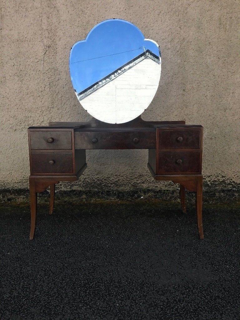 Burrwallnut 1920s dressing table