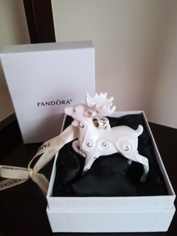 PANDORA LIMITED EDITION REINDEER ORNAMENT DATED 2017