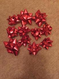 Red parcel bows *new*