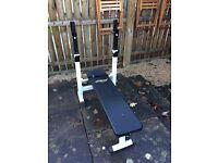 Adjustable weights bench