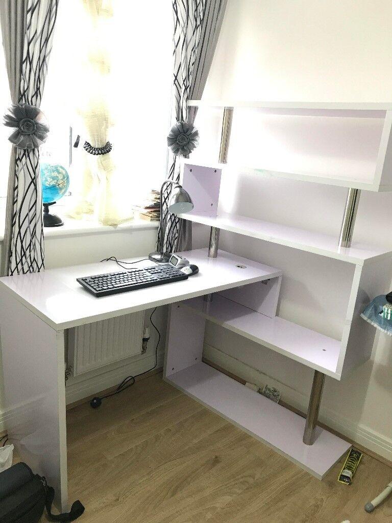 Ihram Kids For Sale Dubai: Executive Office Desk White Luxury Computer Desk Corner