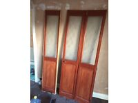 2 x folding doors- FREE to collect