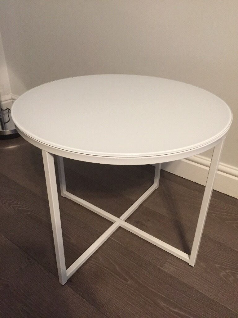 White Round Metal Side Table In Hengoed Caerphilly Gumtree