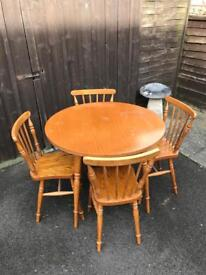 Table & Chairs ( Can Deliver )