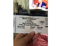 Micky Flanagan tickets x2, Newcastle metro arena. 30th June 8pm