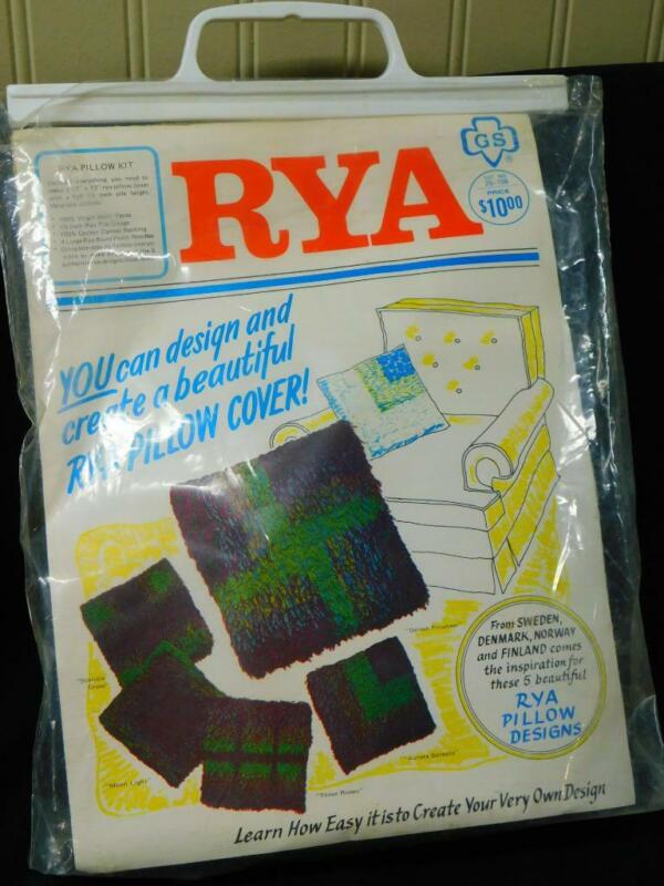 Vintage Girl Scout RYA PILLOW Cover KIT Greens Blues Purples 12x12 5 Designs