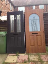 Composite heavy duty front doors.