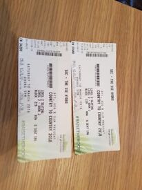 2 x Country to Country Glasgow 2018 tickets 10th March SSE Hydro level 2 block 229