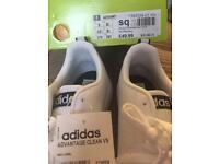 Adidas men's white trainers