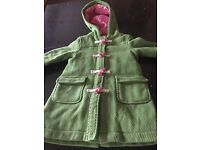 Mini Boden Green and pink coat size 3-4 years