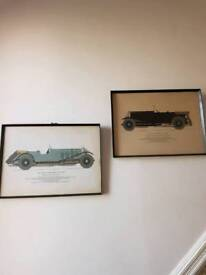 Pictures wall art drawings classic car print