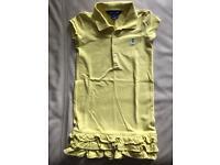 Ralph Lauren girls ruffle bright yellow dress Age 5 years