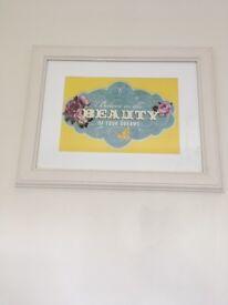Beauty of dreams framed print