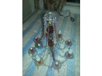 Vintage Victorian Chandelier {With 8 light bulb holders}