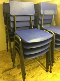 37 Stacking event chairs, Children's size but will suit most adults too.
