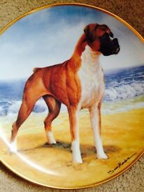 "Boxer Dog Collectible Plate ""On the Beach"" by Danbury Mint"