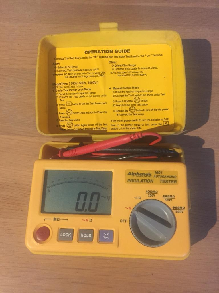 Alphatek electrical insulation tester