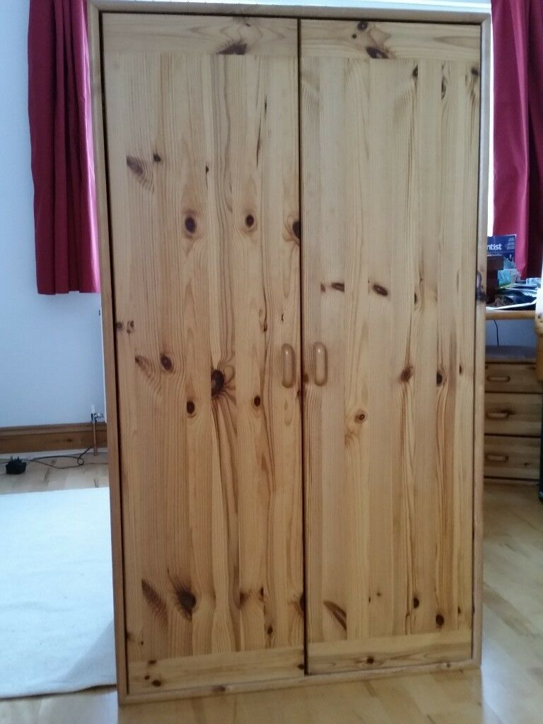 Pine Childrens Bedroom Furniture Set Flexa With Wardrobe Chest And Cupboard