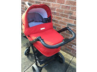 Bebecar IP-OP full travel system inc pram, two way pushchair (extra seat brand new) and car seat.
