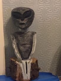 Hand carved alien