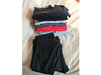 Women's active wear, size small (uk 8-10), various tops and bottoms - under armour/american apparel