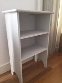 Chalk painted in grey small pine book case