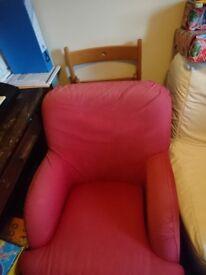 Red Ikea tub chair