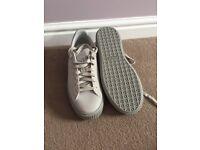 Women's puma platform grey trainers uk size 8 brand new