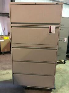 Global 5 Drawer Lateral Filing Cabinet - Beige - $325