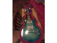 2014 anniversary edition Gibson les paul standard in ocean water, with E tune.