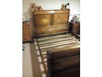 King size sled bed frame
