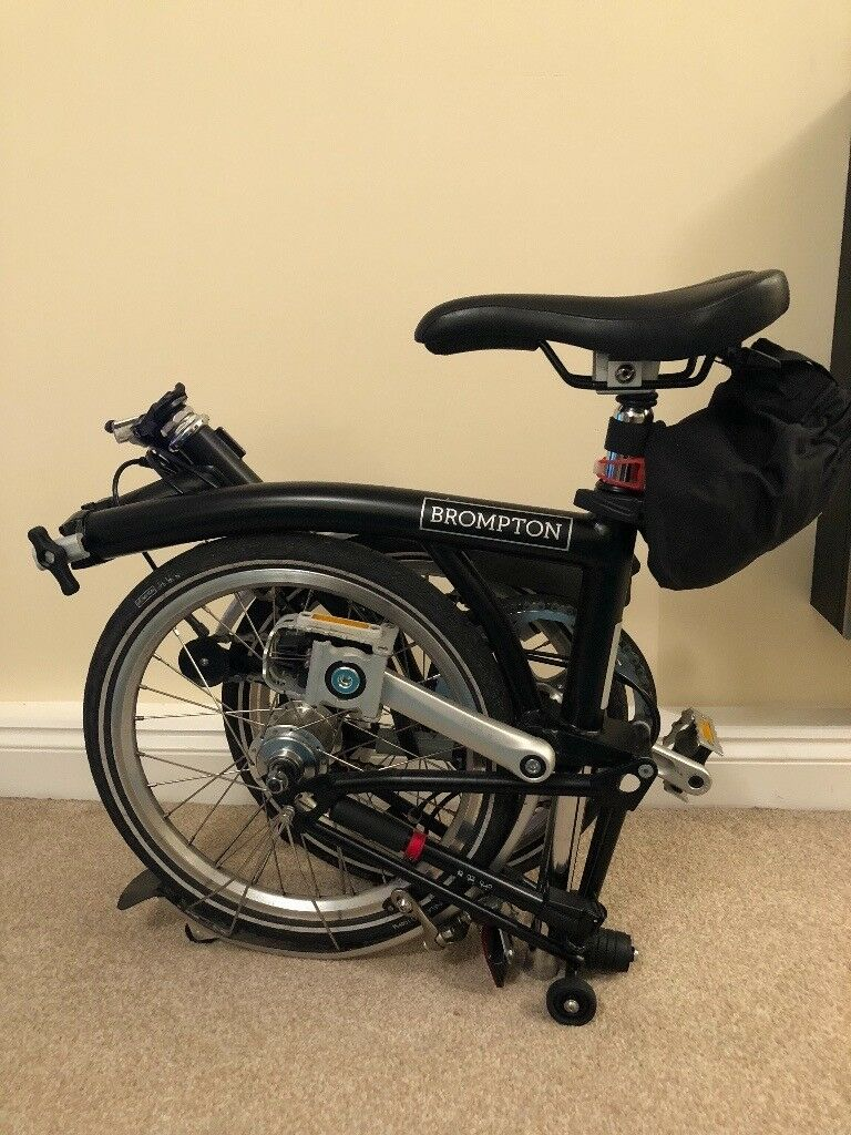 Black Brompton M3L bicycle (2017) - Fab deal!