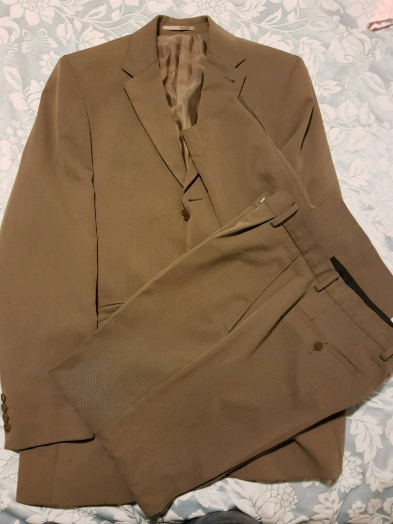 Suit - Next in khaki green £45 ovno