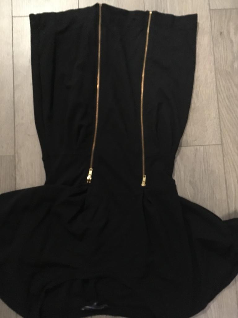 French connection black dress size 14