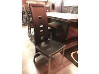 8 xModern Black Dining Chairs