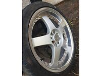 lenso rs5 alloy wheels 4x100 multistud
