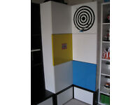 youth kids corner wardrobe with 2 drawers underneath
