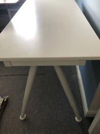 Ikea Galant adjustable height white office desk