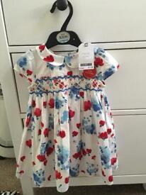 Bnwt baby girl dress with matching knickers ages 9-12 month