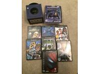 Purple Nintendo GameCube and games bundle