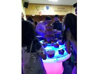 Amazing LED Stand and Chocolate Fountain hire + Sweet Cart hire for Weddings