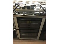 60CM STAINLESS STEEL/BLACK ZANUSSI ELECTRIC COOKER