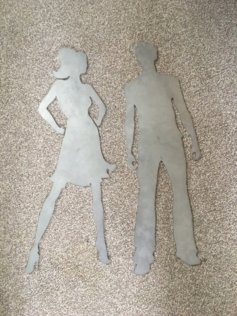 Laser cut signs, male and female | in Northwich, Cheshire | Gumtree