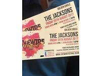 2 X The Jacksons Gold Circle Tickets @ Livewire Festival Blackpool