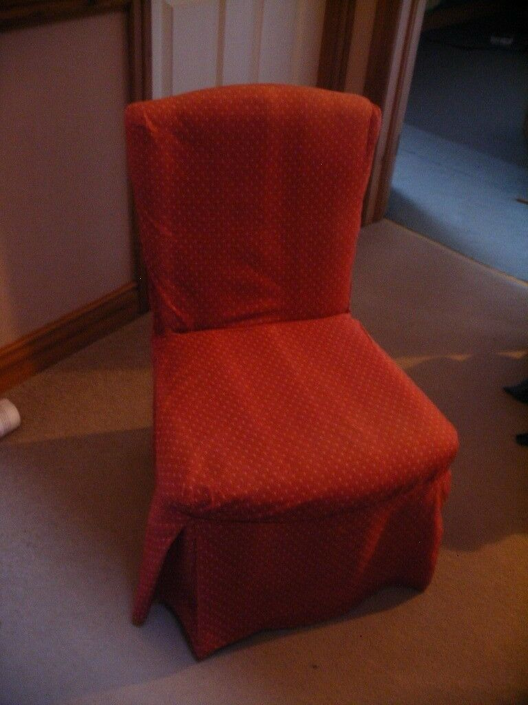 2 Bedroom chairs with optional Laura Ashley covers.