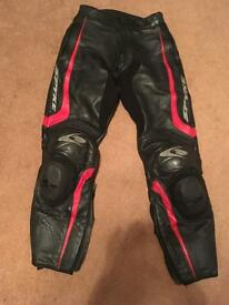 Pair of spyke leather trousers