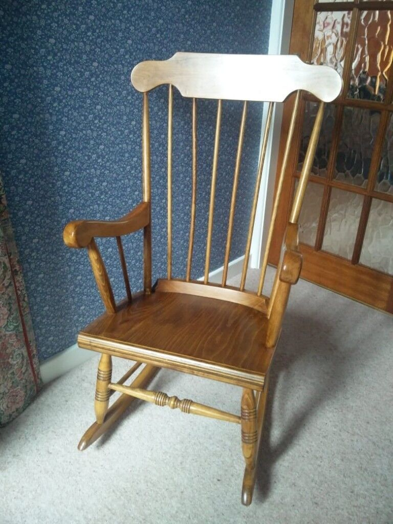 Antique pine rocking chair (John Lewis) - Antique Pine Rocking Chair (John Lewis) In Arnold, Nottinghamshire