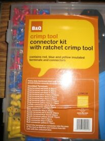 Crimp tool - connector kit with ratchet crimp tool.