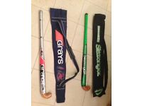 Hockey sticks with carry cases (two)