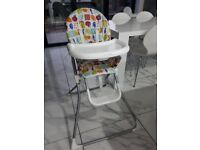 Mama's and Papas high chair, hardly used and is very clean and in excellent condition